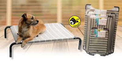 Picture of DOG BED CHAR/WHEAT SM 75x47x15cm